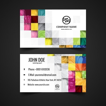 Mosaical visiting card