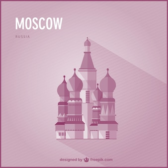 Moscow landmark vector