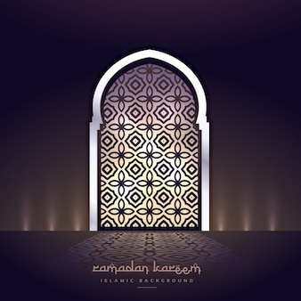 Mosque door with lights