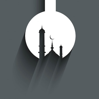 Mosque silhouette background