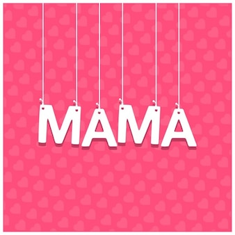 Mother day hanging typography