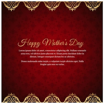 Mother day invitation card