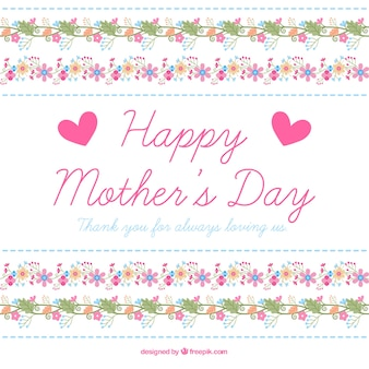 Mother's day background with floral ornament