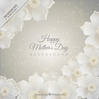 Mother's day background with white flowers