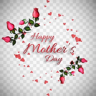 Mother's day design template with roses