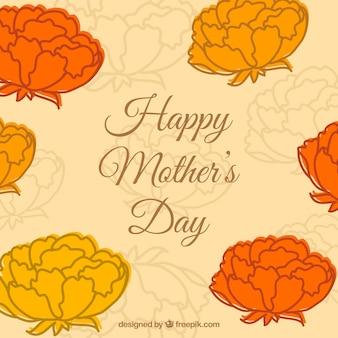 Mother's day free flowers template