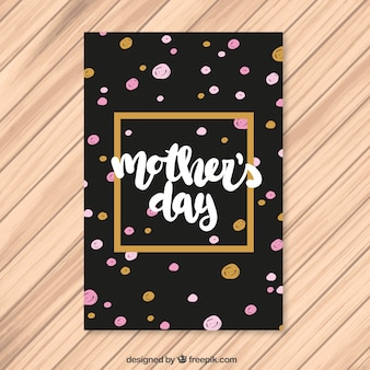 Mother's day greeting with hand painted polka dots