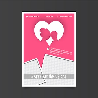 Mother's day poster with heart