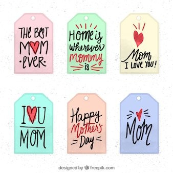 Mother's day quote labels