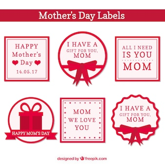 Mother's day stickers set with beautiful messages