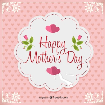Mother's day vector free postcard