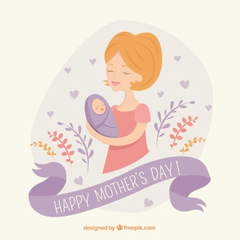 Mother with baby background