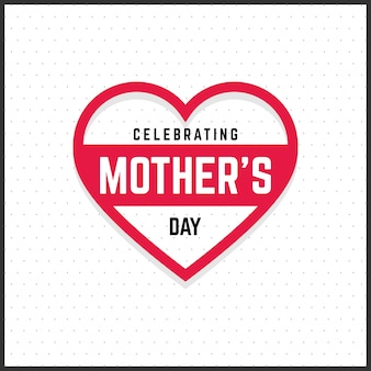 Mothers day card with heart
