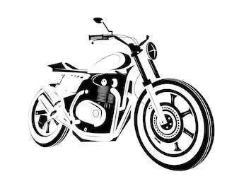 モトバイクのアイコン。カフェレーサー。