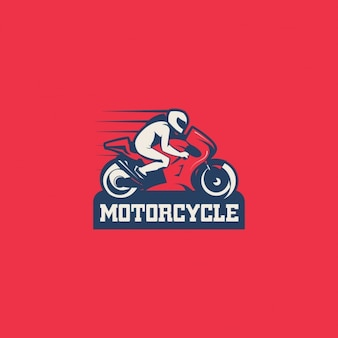 Motorcycle logo on a red background