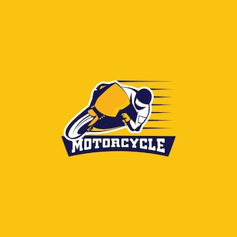 Motorcycle logo on a yellow background