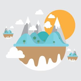 Mountain background design