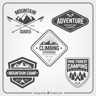 Mountain climbing badges pack