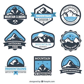 Mountain expedition badges