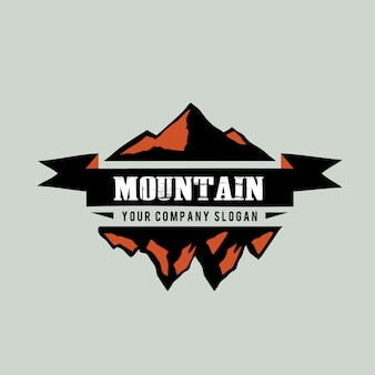 Mountain logo background