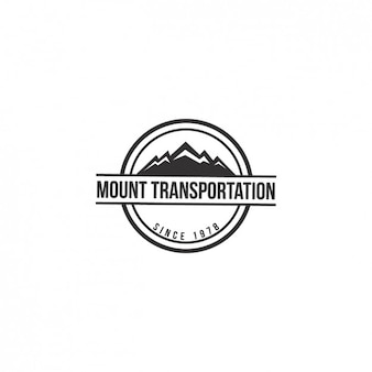 Mountain shape logo template