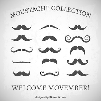 Moustaches collection in retro style