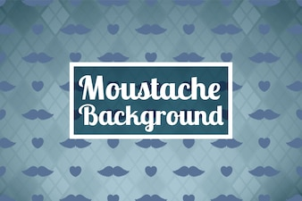 Movember background with moustaches and hearts