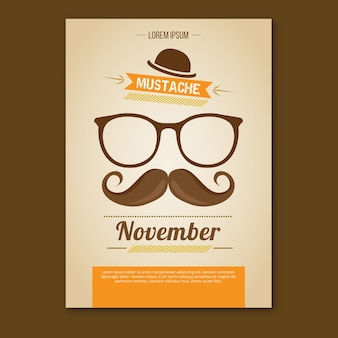 Movember booklet with orange details