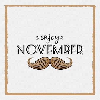 Movember design in frame style