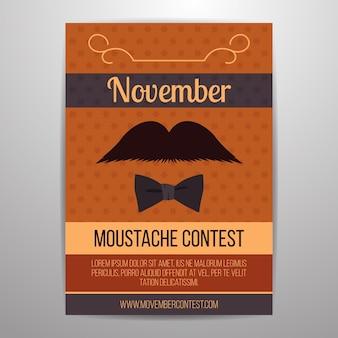 Movemberチラシの4つの口ひげコンテスト