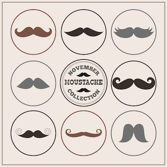 Movember moustaches collection