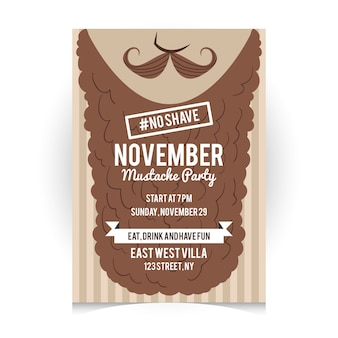Movember poster template