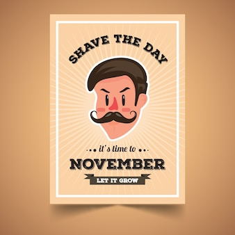 Movember poster with man design