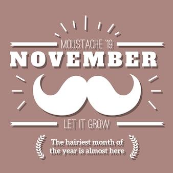 Movember retro emblem