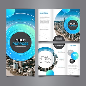 Multi purpose corporate trifold brochure