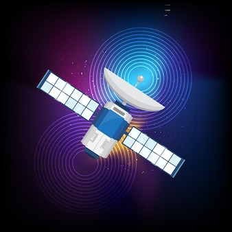 Multicolor background with satellite