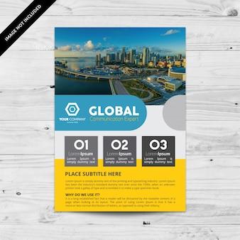 Multicolor business flyer