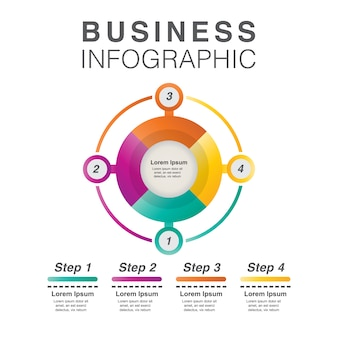 Multicolor business infographic