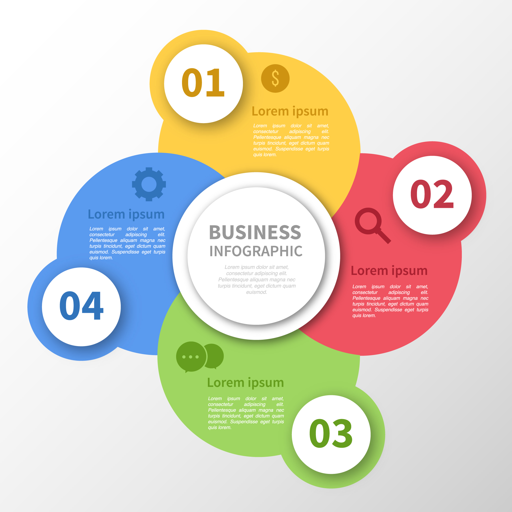 Multicolor circles infographic design