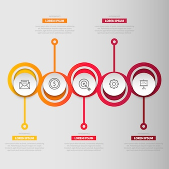 Multicolor circles infographic template