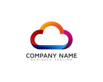 Multicolor cloud logo design