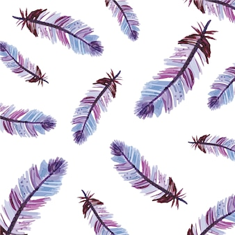Multicolor feather pattern background