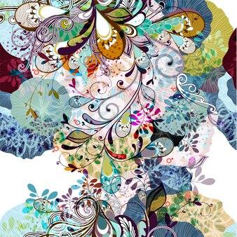 多色の花の背景