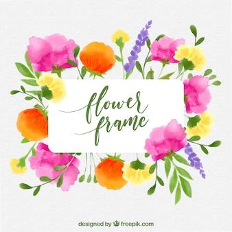 Multicolor floral frame
