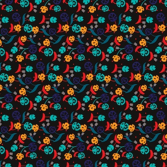 Multicolor floral pattern background