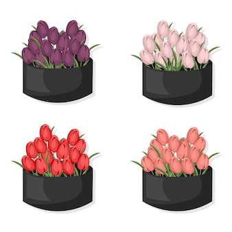 Multicolor flower collection