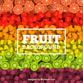 多色のフルーツパターンの背景