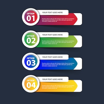 Multicolor infographic with steps