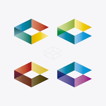 Multicolor logo collection