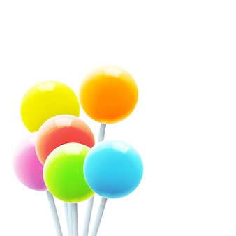 Multicolor lollipops background